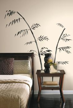 Shop for Painted Bamboo Peel & Stick Giant Wall Decal - Black. Get free delivery On EVERYTHING* Overstock - Your Online Nursery Decor Shop!