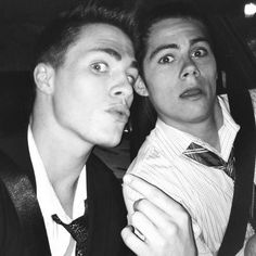 Colton Haynes and Dylan O'Brien