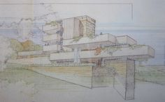 """Wright Chat :: View topic - Exhibition: """"Drawings and Objects by Architects"""" Franck Loyd Wright, Lloyd Wright, Portal Design, Architectural Drawings, Modern Architecture, Architects, Computers, Objects, Sketch"""
