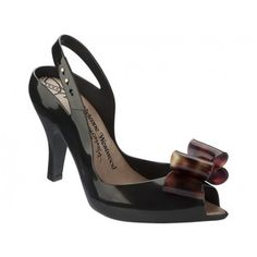 Vivienne Westwood + Melissa Shoes VW Lady Dragão Negro / TS Bow