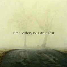 Be original.....