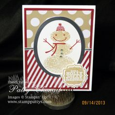 Snow Day stamp Set - Stampin' Up! Holiday Catalog 2013 - Season of Style Designer Paper - Silver Foil Sheets  Follow me - www.stamppattys.com