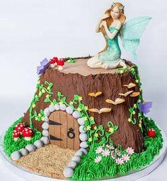 Image result for fairy garden cake
