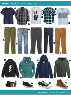 WORN | Back to School Boy Style - Capsule Wardrobe for a Boy | ImaginationSprinkles.com