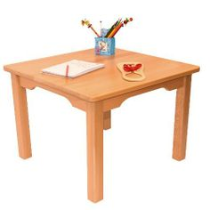 Childrens Furniture Solid Beech Wood Childrenu0027s One Table Natural Varnish  By Obique, Http:/