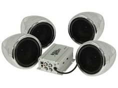 Boss Audio Systems - MC450 - Boss MC450 4.0 Speaker System - 1000 W RMS - Vehicle Mount - Chrome - No - Water Proof,, Silver