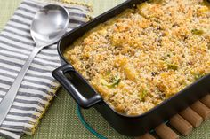 Butternut Squash & Gouda Casserole with Rigatoni, Brussels Sprouts & Chestnut Breadcrumbs. My favorite Blue Apron casserole so far! Vegetable Recipes, Vegetarian Recipes, Mashed Butternut Squash, Roasted Chestnuts, Ras El Hanout, Bread Crumbs, Original Recipe, How To Cook Pasta, The Fresh