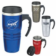 Tribune 16 Oz. Double Walled Stainless Steel Travel Mug
