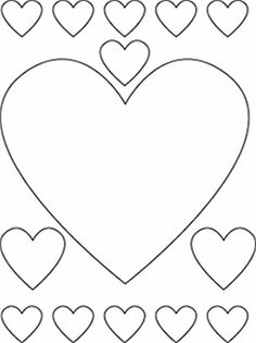 Printable Valentine coloring pages - Valentines Day coloring sheets, heart coloring crafts and romantic coloring pictures with hearts, flowers. Printable Valentines Coloring Pages, Valentines Day Coloring Page, Valentine Day Crafts, Valentine Day Love, Holiday Crafts, Heart Coloring Pages, Colouring Pages, Coloring Books, Coloring Sheets