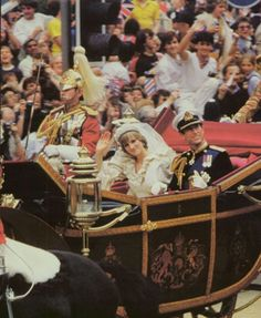 Princess Diana's royal wedding. LIFE Magazine. Click image to view entire issue for free. #Diana #princess