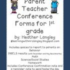 Parent Teacher Conference Reporting Form Includes:  Math DIBELS Reporting (with December and May Benchmarks) Social Studies/Science Also has a sect...