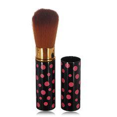 Fibra de cosméticos retráctiles maquillaje rubor pincel polvos sueltos