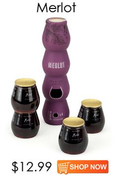 Stack Wines -- a full bottle of wine separated into 4 glasses -- perfect for travel and picnics.