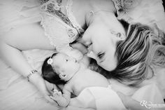 Mom and newborn baby and add my sweet Camden to the picture I think this would be perfect with me and my two baby boys :*)