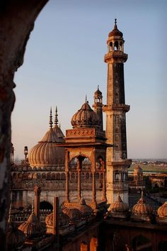 Reminds of of Dali's long legged stilted creatures.  (Bara Imambara, Lucknow, India) #islamicarchitecture