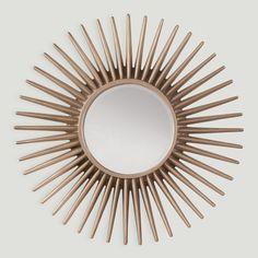 Silver Sun Frame Decorative Beveled Wall Mirror (Decor Beveled Wall Mirror with Silver Sun Frame), OSP Home Furnishings Sun Mirror, Sunburst Mirror, Metal Mirror, Beveled Mirror, Beveled Glass, Cool Mirrors, Round Mirrors, Large Mirrors, Bathroom Mirrors