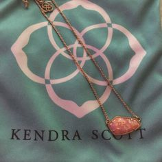Kendra Scott Cami Coral Kyocera opal Rose gold chain with a gorgeous pink tone opal from Kendra Scott spring 2016 - priced high looking to trade for some of my ISO's Kendra Scott Jewelry Necklaces