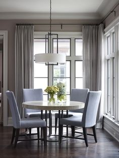 tracy hickman of hickman design associates uses a bradley jackson table contemporary dining roomsdesign - Dining Room Design Round Table
