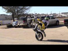 Graham Jarvis doing wheelies at Adventure Moto - YouTube