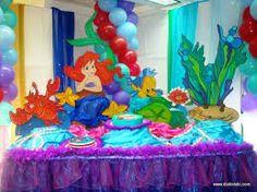 Resultado de imagen para fiesta de la sirenita ariel decoracion