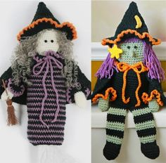 Witch Bag Holder and TP Topper Crochet Pattern