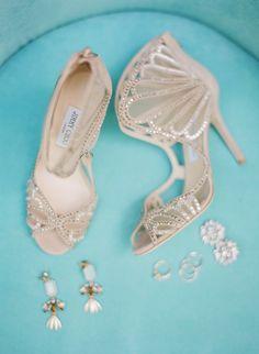 Gorgeous wedding shoes idea; photo: Jose Villa