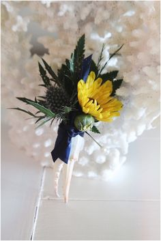little miss lovely floral design // ocean city maryland wedding florist // crab claw boutonniere // maryland pride