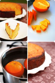 2 large oranges, left whole  6 large eggs  9 ounces/ 250 grams finely ground blanched almonds  9 ounces/ 250 grams coconut sugar (b'c of the lower GI impact)  1 teaspoon double-action baking powder  4 tablespoons cocoa powder (my addition)
