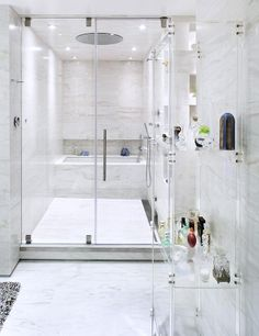 Looking to renovate your bathroom with White Shade. Have a look at inspiring 75 White Bathroom Design Ideas & Inspiration. White Bathroom, Bathroom Interior, Modern Bathroom, Small Bathroom, Master Bathroom, Tub Shower Combo, Shower Tub, Dream Bathrooms, Beautiful Bathrooms