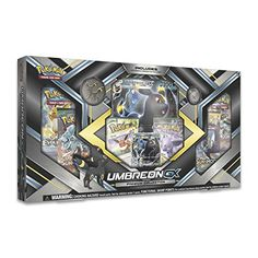 Umbreon-GX Premium Collection Box - The Moonlight Pokemon Umbreon appears as a powerful Pokemon-GX in this exclusive Premium Collection box! The Umbreon-GX Premium Collection Box features Umbreon as an oversize Pokemon GX card, a collector's pin, and a Po Pokemon Umbreon, Pokemon Sammelkarten, Pokemon Cards, Charizard, Toys R Us, Star Wars Set, Lego Star Wars, Pokemon Trading Card, Trading Cards