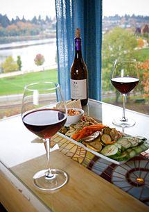 Swing Wine Bar overlooks Capitol Lake in Olympia, WA