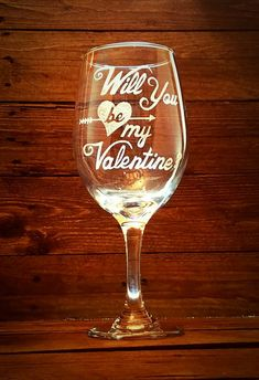 Items similar to Will You Be My Wine Glass // Mothers Day Gift // For Her // Girlfriend Gift // Gift under 25 // Be Mine // Be My on Etsy Be My Valentine, Valentine Day Gifts, Wine Glass Crafts, Wine Gifts, Mothers, Gifts For Her, Gift Ideas, Unique Jewelry, Tableware