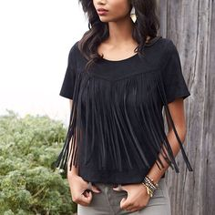 """""""Get into the swing of things with this on-the-fringe fashion trend. See more ways to wear it on the blog! #fringefrontier"""""""