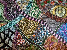 Colored zen Tangle