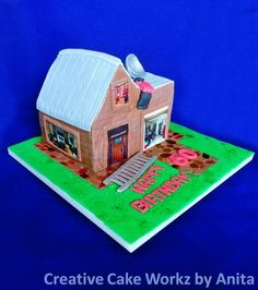 Building Inspector House Cake