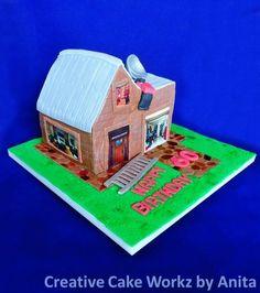 Building Inspector House Cake