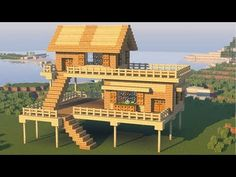 Minecraft: How to Build the Best Starter / Survival House - Tutorial (Easy) Minecraft Jungle House, Minecraft Farmen, Minecraft Villa, Minecraft House Plans, Cute Minecraft Houses, Minecraft Mansion, Minecraft House Tutorials, Minecraft Houses Survival, Minecraft Houses Blueprints