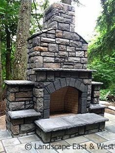 Outdoor Fireplaces with Pizza Oven   Portland Outdoor Kitchen Design   Landscape Design / Build Services ...