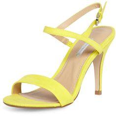 Dorothy Perkins Yellow minimal sandal ($49) ❤ liked on Polyvore
