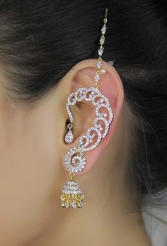 Buy Indian Ethnic Gorgeous Design Zircons Made Ear Cuff Earring ...