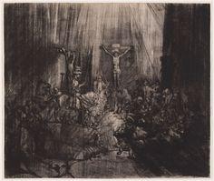 Rembrandt van Rijn, Le tre croci, 1653-1655 circa incisione, mm 383 x 451 Rotterdam, Museum Boijmans Van Beuningen