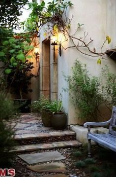 #BryceDallasHoward's Courtyard Entry >> http://coolhouses.frontdoor.com/2013/03/04/bryce-dallas-howard-lists-romantic-retreat-in-los-angeles/?soc=pinterest#