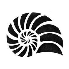 seashell stencil - Google Search