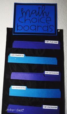 Math choice boards a