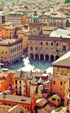 Bologna vista from Asinelli tower   |  10 Amazing Places in Italy You Need To Visit