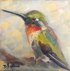 "Daily Paintworks - ""Darting Bird"" - Original Fine Art for Sale - © Denise Hopkins"
