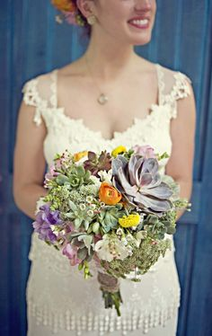 Cactus bouquet. LOVE this but would like different colors