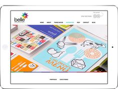 New website for Belle Print by Warm&Fuzzy