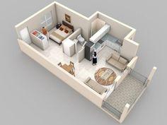 48 m2 3D floor plan - Google keresés
