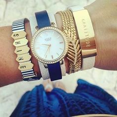KEEP Collective summer bracelet and watch. Shop At: https://www.keepcollective.com/with/amberlinstedt